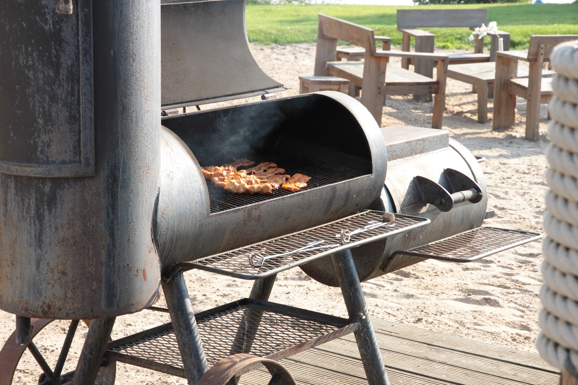 5 The Char Griller Trio Gas Charcoal Grill And Smoker