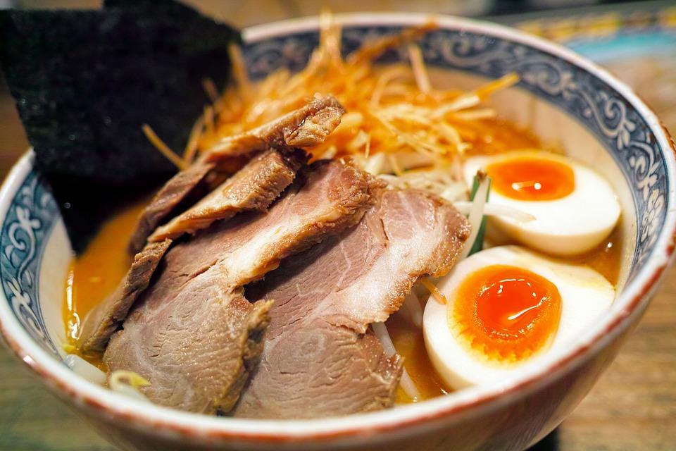 ramen noodle bowl, fresh noodles for ramen