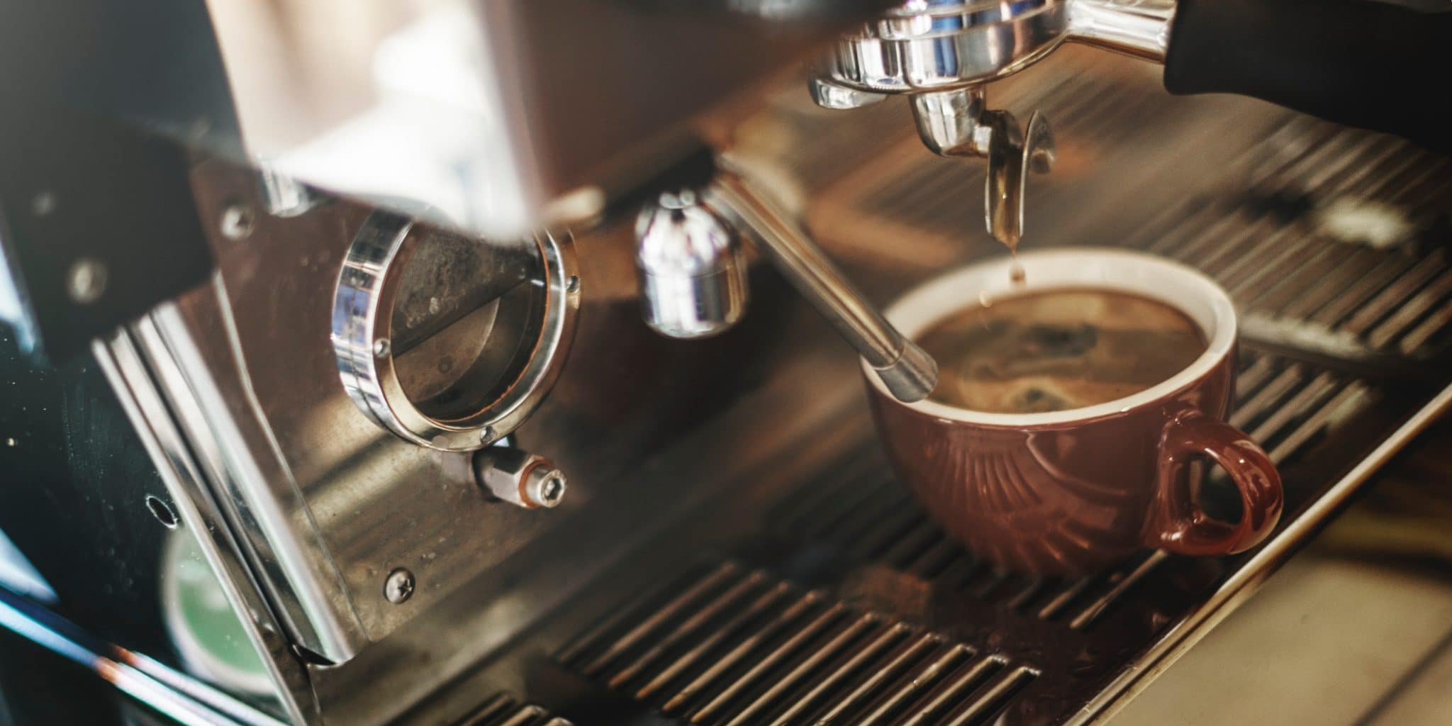 coffee machine, coffee table setting