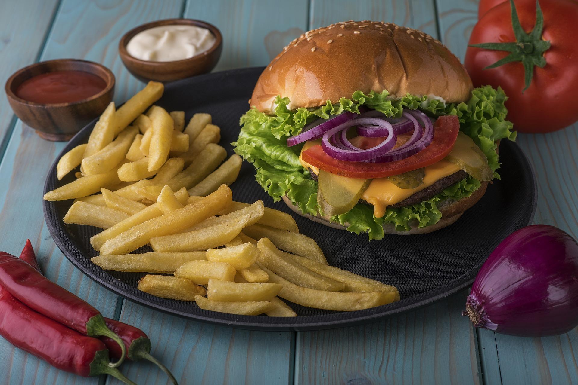 recipes for hamburger meat, hamburger and fries