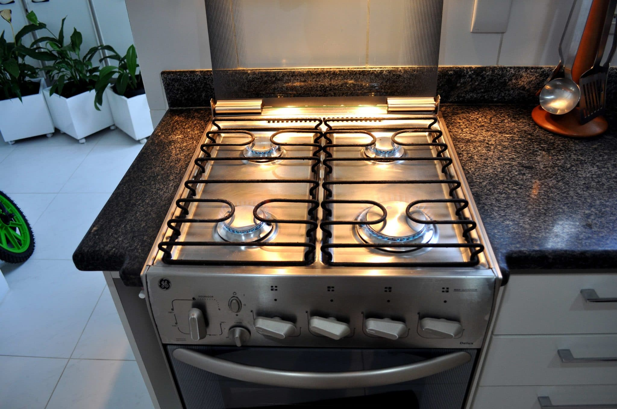 four burner range, four burner stove