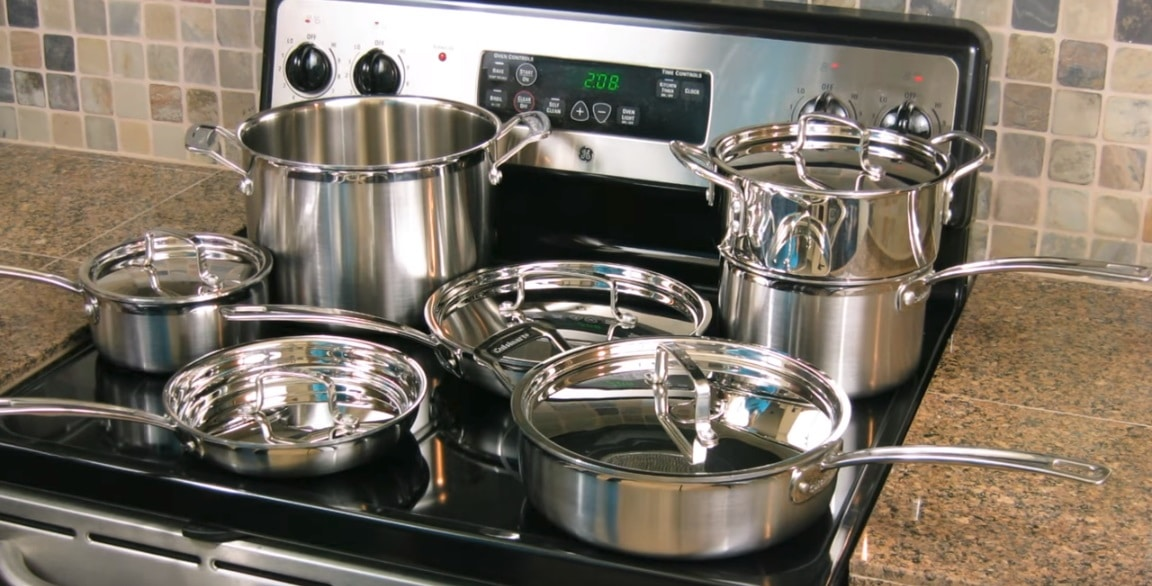 cuisinart mcp-12n multiclad pro cookware set, cuisinart mcp-12n multiclad pro stainless steel cookware set