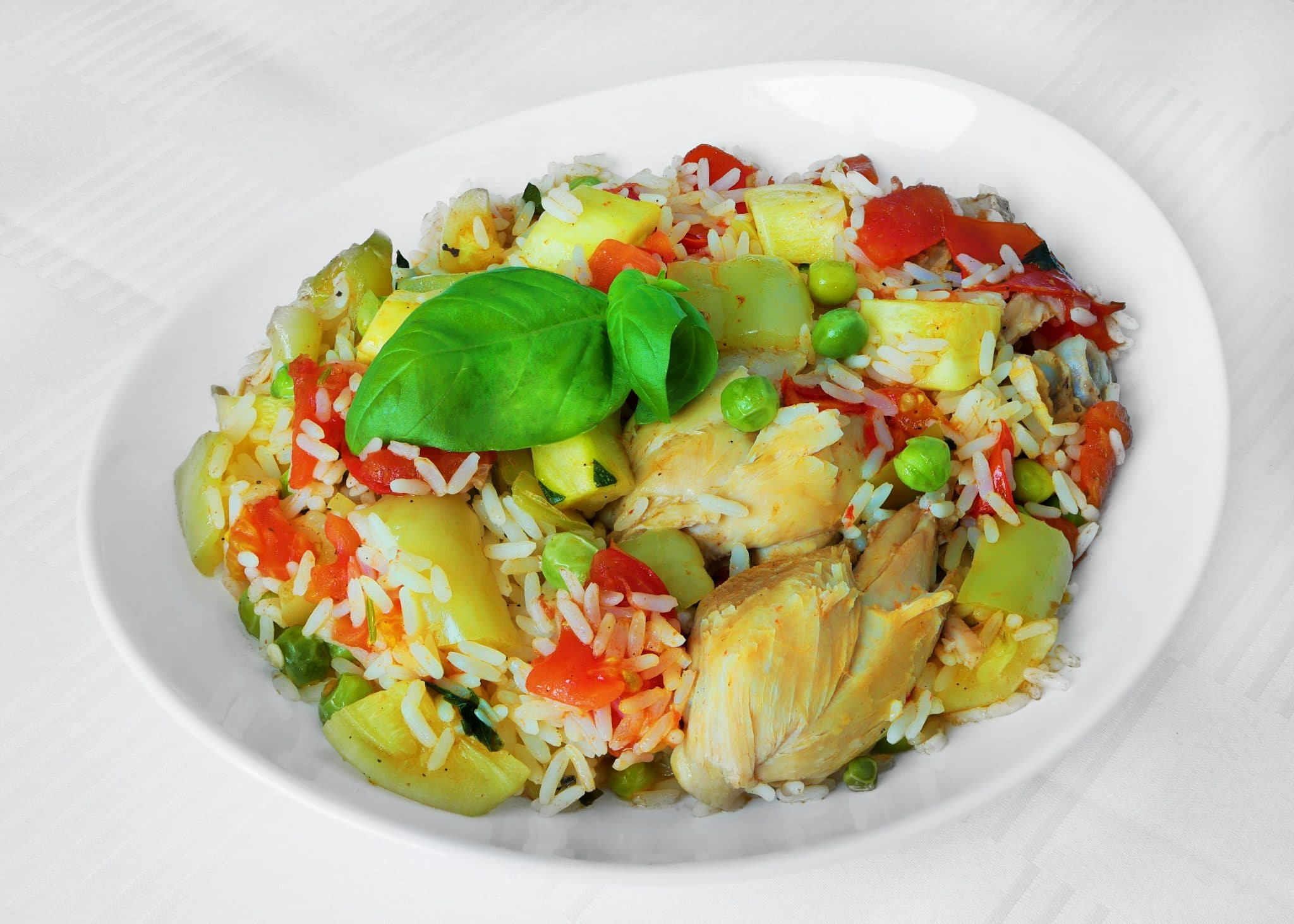 risotto with vegetables, risotto dish