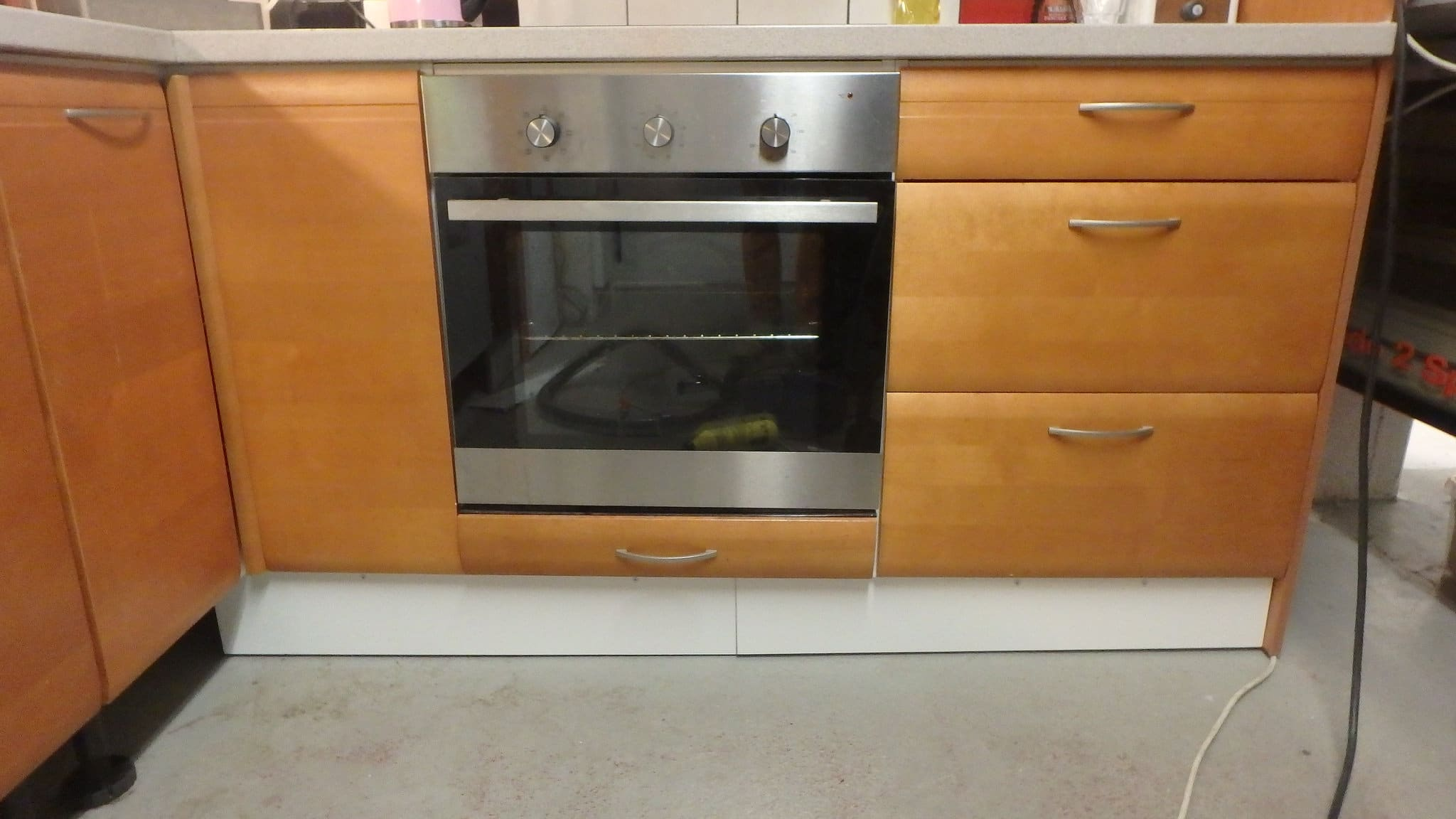 toaster oven cabinet ideas, integrated oven cabinet