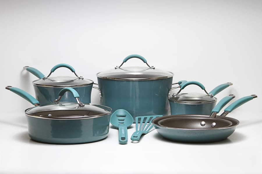 colorful pots and pans, colorful pots and pans set