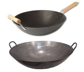 there are two main types of woks handles woks have two small handles making them easy to lift woks feature a long handle