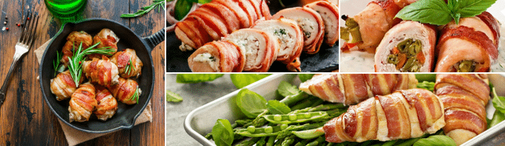 chicken stuffed with mozzarella, ham wrapped chicken, chicken cheese