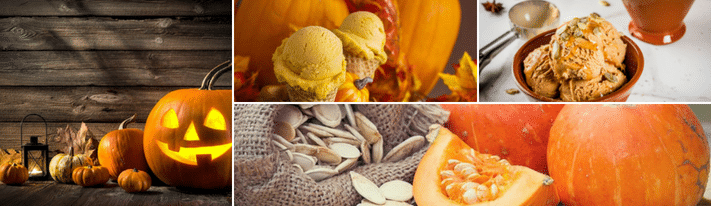 pumpkin gelato, halloween ice cream, pumpkin ice cream