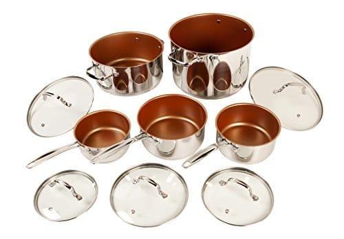 1 Quart Ceramic Saucepan With Lid