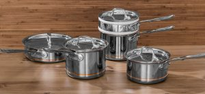 tri ply cookware set, stainless steel tri ply cookware set