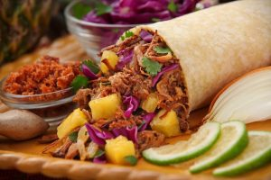 mexican food, shawarma