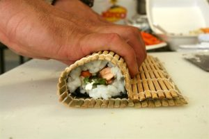 making wrap, sushi wrap