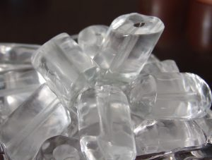 frozen water, ice cubes