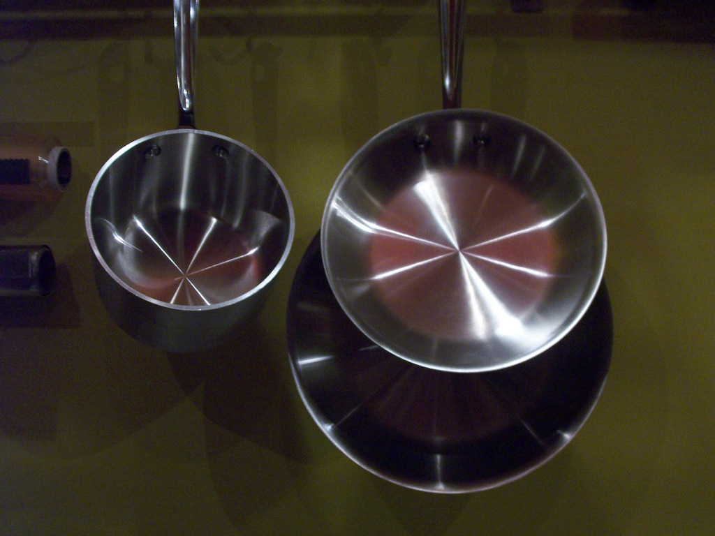 hanging pans, hanging pans kitchen