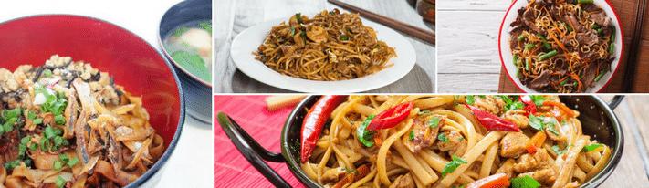 chow mein vs chow fun, chow mein recipe, chow fun recipe