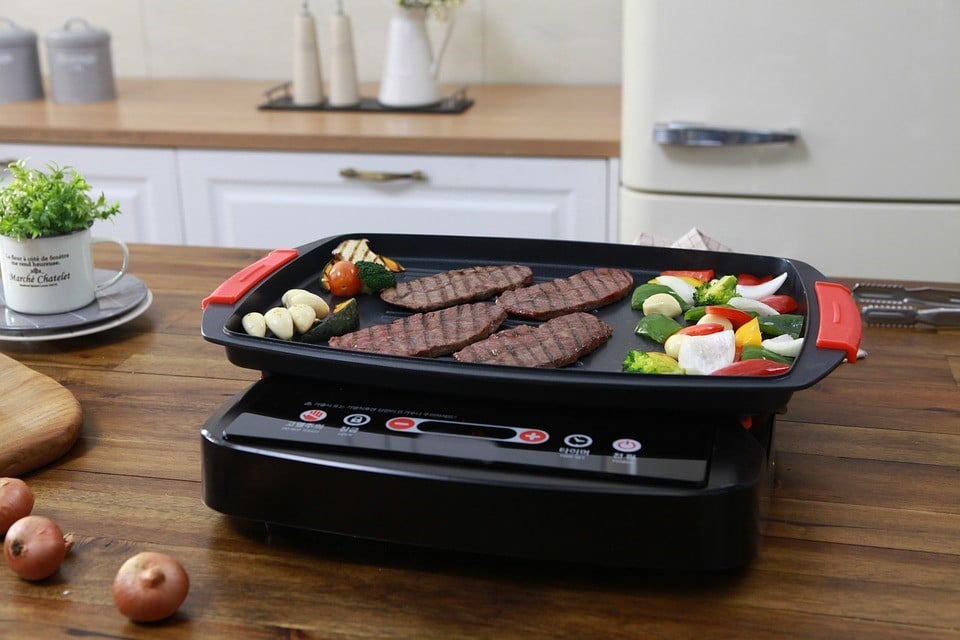 double burner grill pan, non stick double burner grill pan