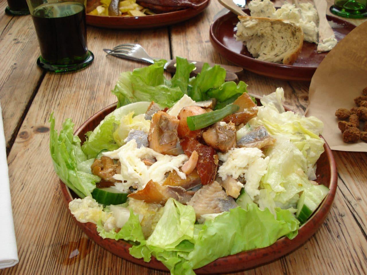 caesar salad fish, grilled fish salad