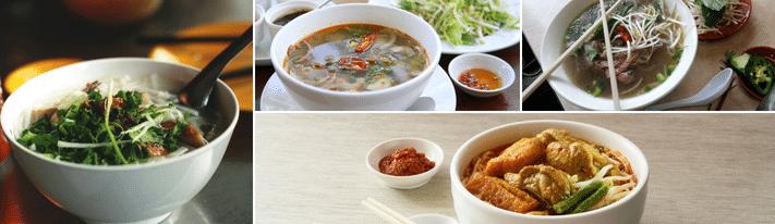 bun rieu recipe, vietnamese crab soup, bun mang vit