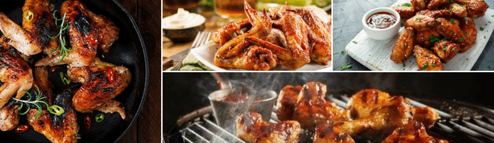 frozen chicken wings, deep frying chicken wings, deep fried chicken