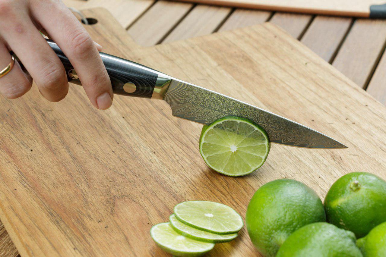 shogun series, damascus knife chef