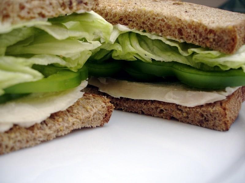 low calorie bread, low calorie burger