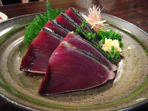 sashimi types, definition of sashimi