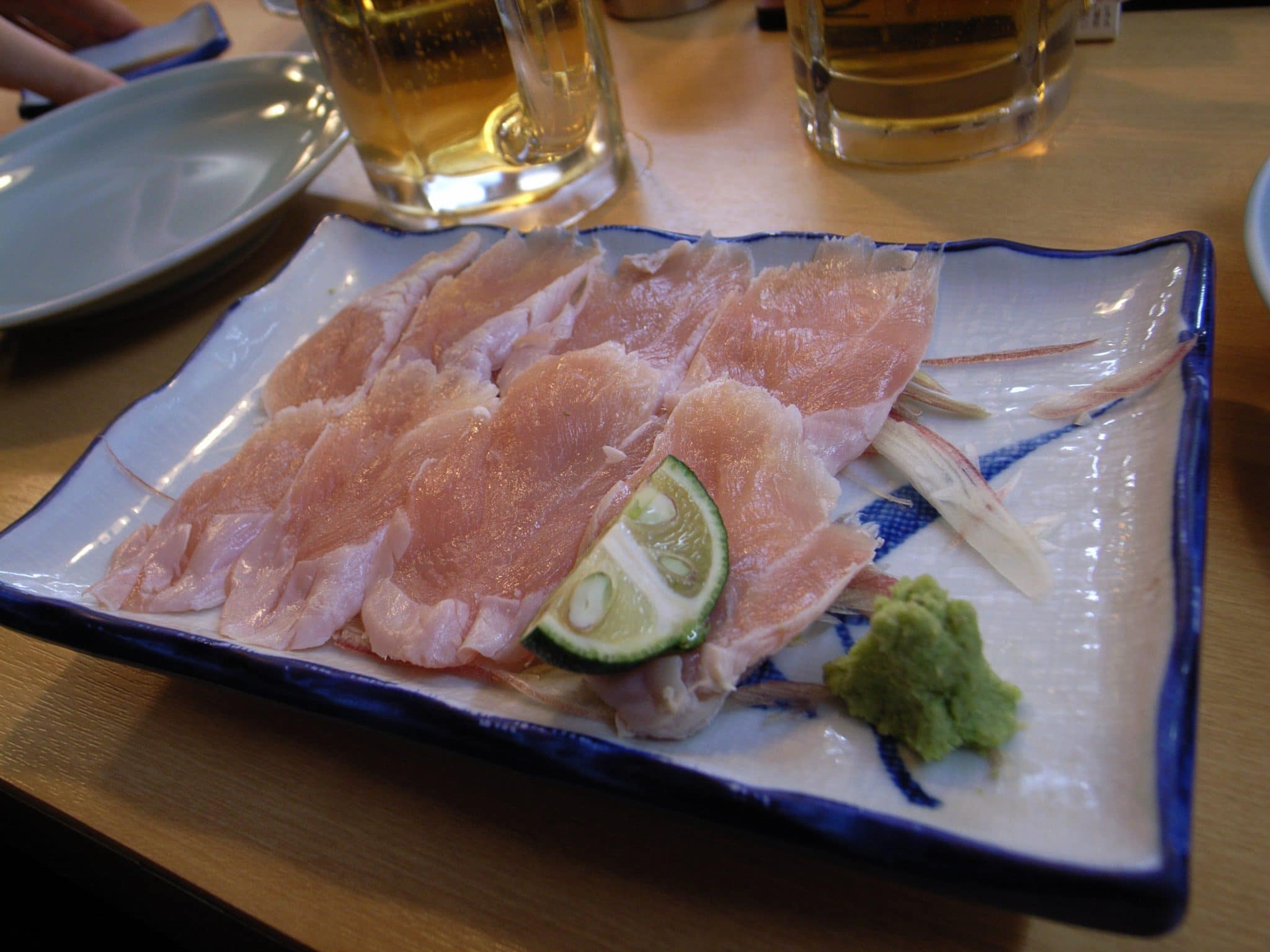 chicken sashimi recipe, chicken sushi