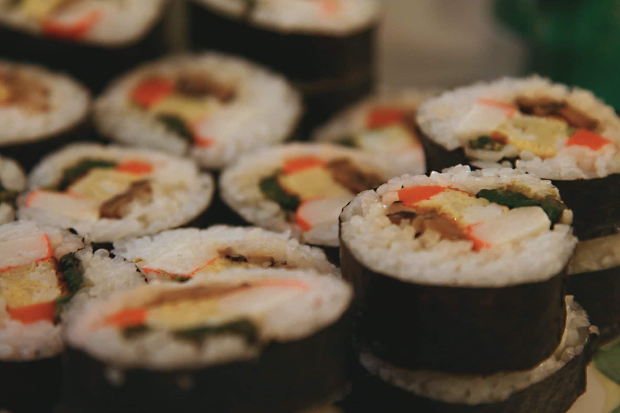futomaki rolls, futomaki sushi roll