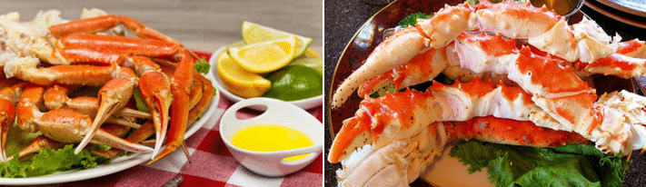 king crab vs snow crab, best way to cook king crab legs, how to cook snow crab legs
