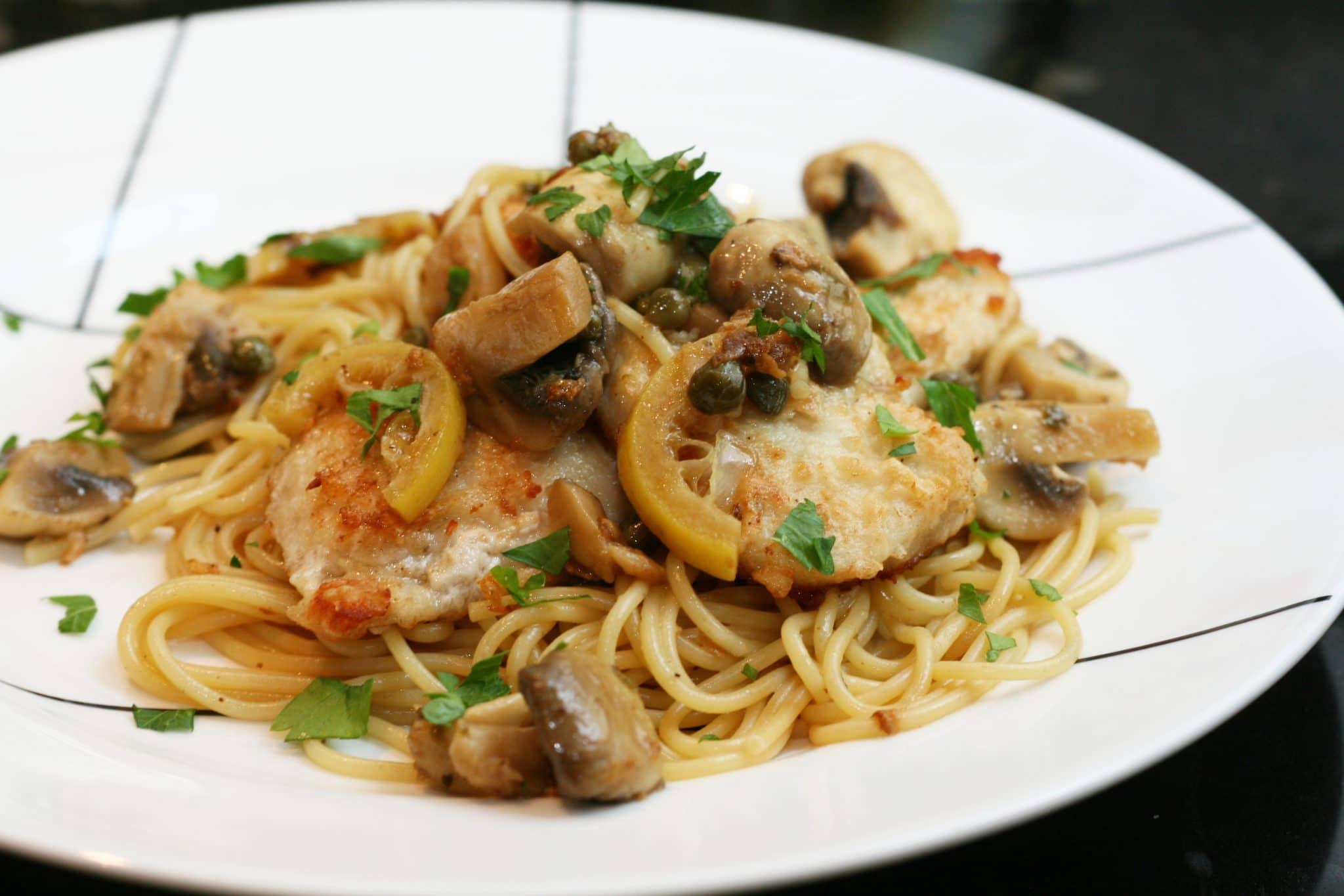 pasta chicken piccata, what is chicken piccata