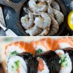 Making Raw Shrimp Sushi at Home