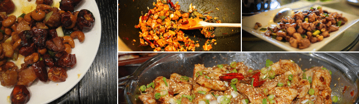szechuan chicken, asian chicken stir fry, glazed fried chicken