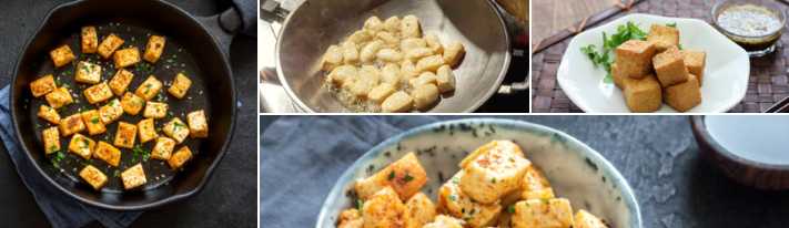 A Meat Substitute with a Perfect Texture: Fried Tofu