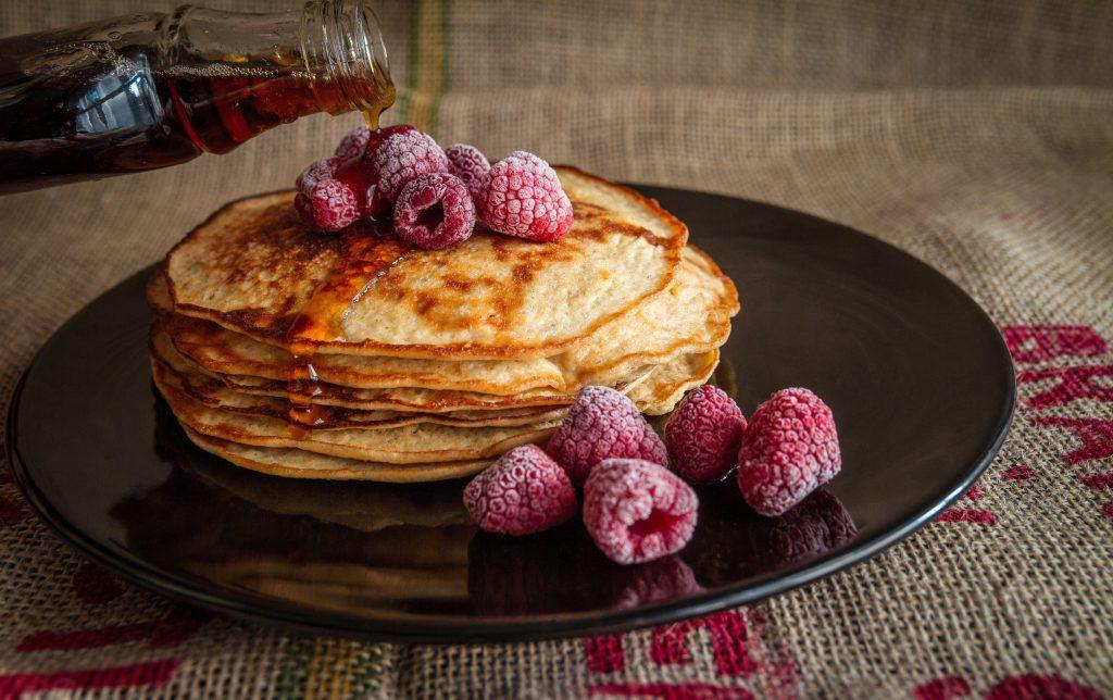 sweet crepe, raspberry crepe