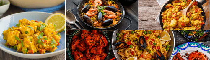 what to serve with paella, paella recipies, which rice for paella