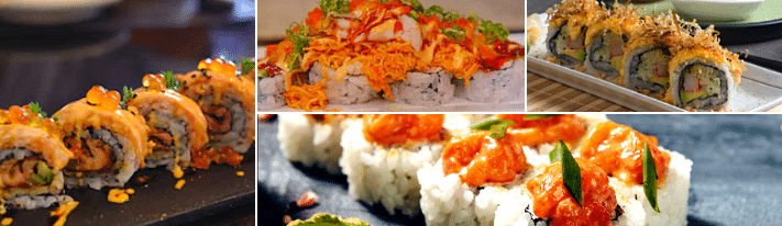 volcano roll sushi, what's in a volcano roll, volcano roll recipe
