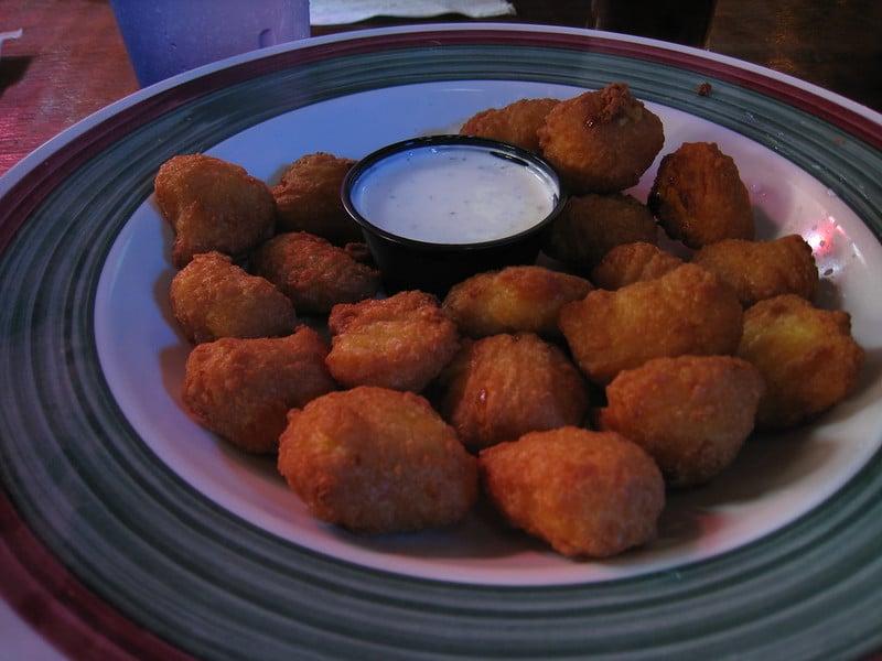 deep fried balls, deep fried cornmeal balls