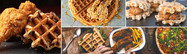 how to eat chicken and waffles, the south chicken and waffles, chicken breakfast