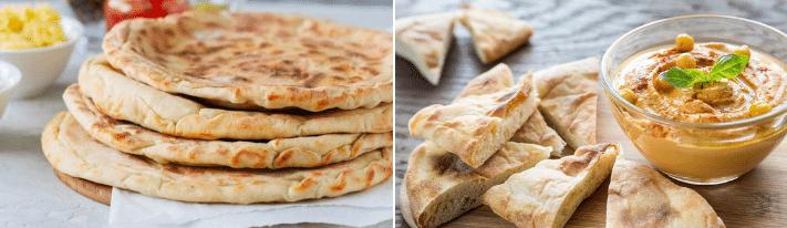 naan vs pita, baking naan, baking pita