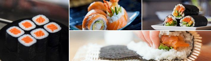 salmon maki, salmon roll, salmon sushi