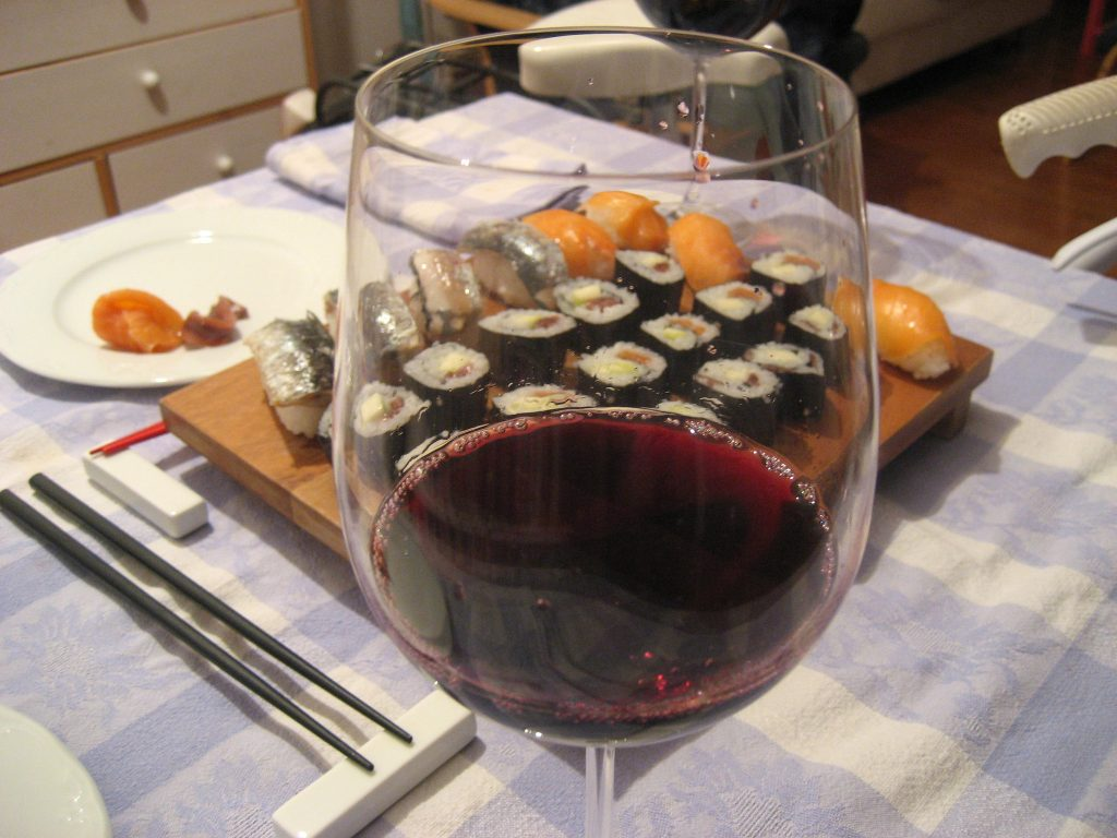 wine for sushi, best wine for sushi