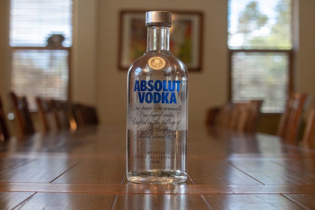 absolut vodka bottle, small absolut vodka bottle