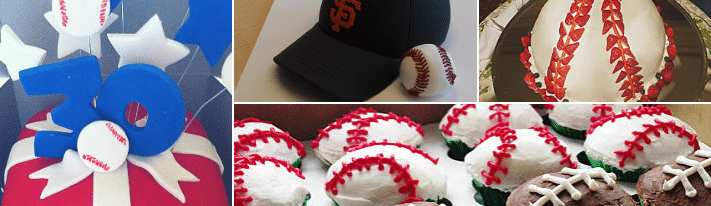 baseball cake recipe, how to make a baseball cake, baseball cake decorating