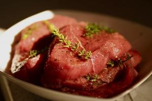 Spencer Steak marinated