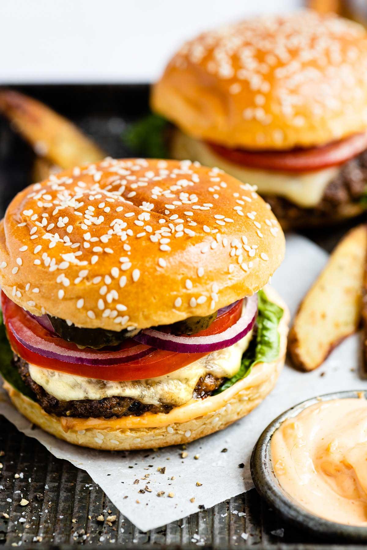 Ground Venison ; Pork Burger
